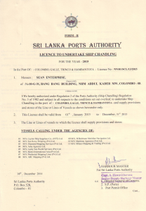 port licence